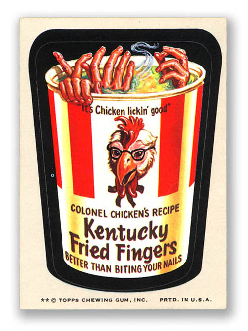 Wacky Packages Kentucky Fried Fingers
