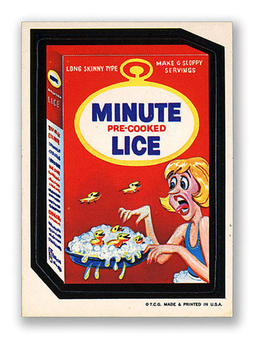 Wacky Packages Minute Lice