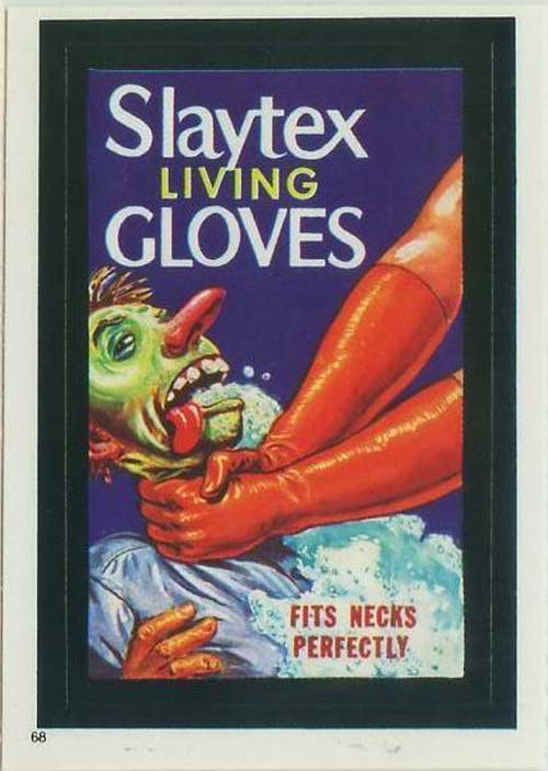 Wacky Packages Slaytex gloves