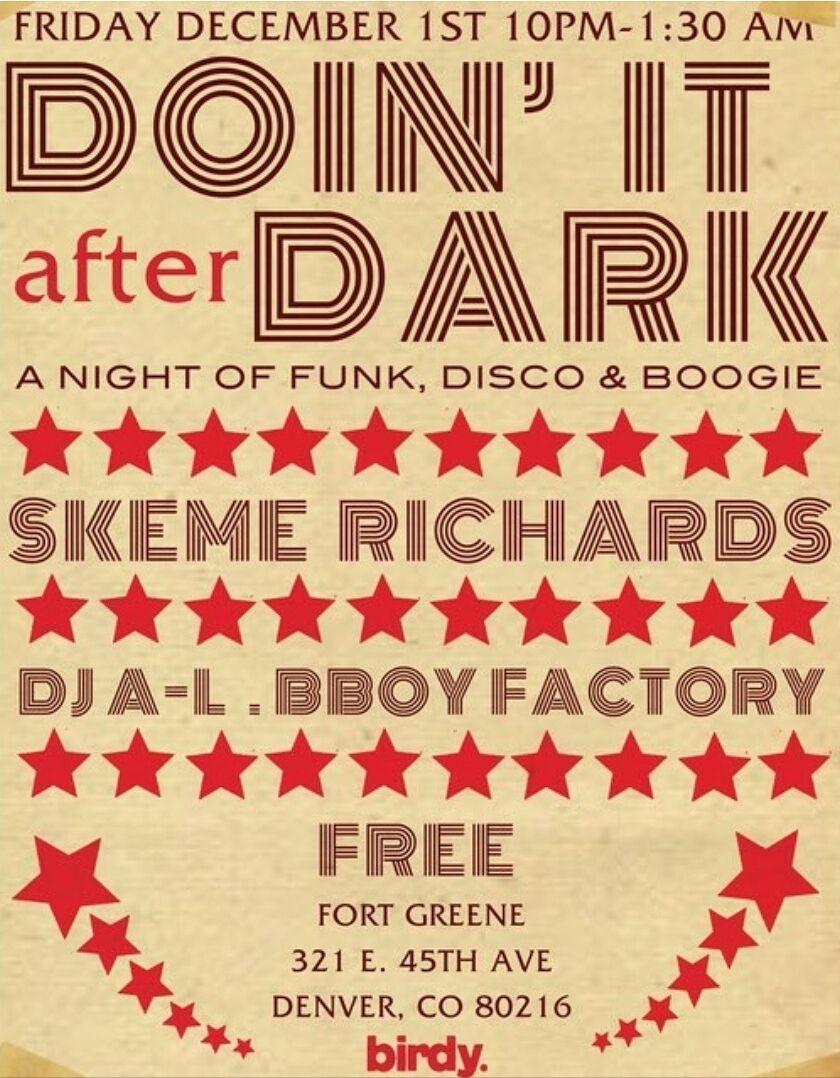 Doin it after dark