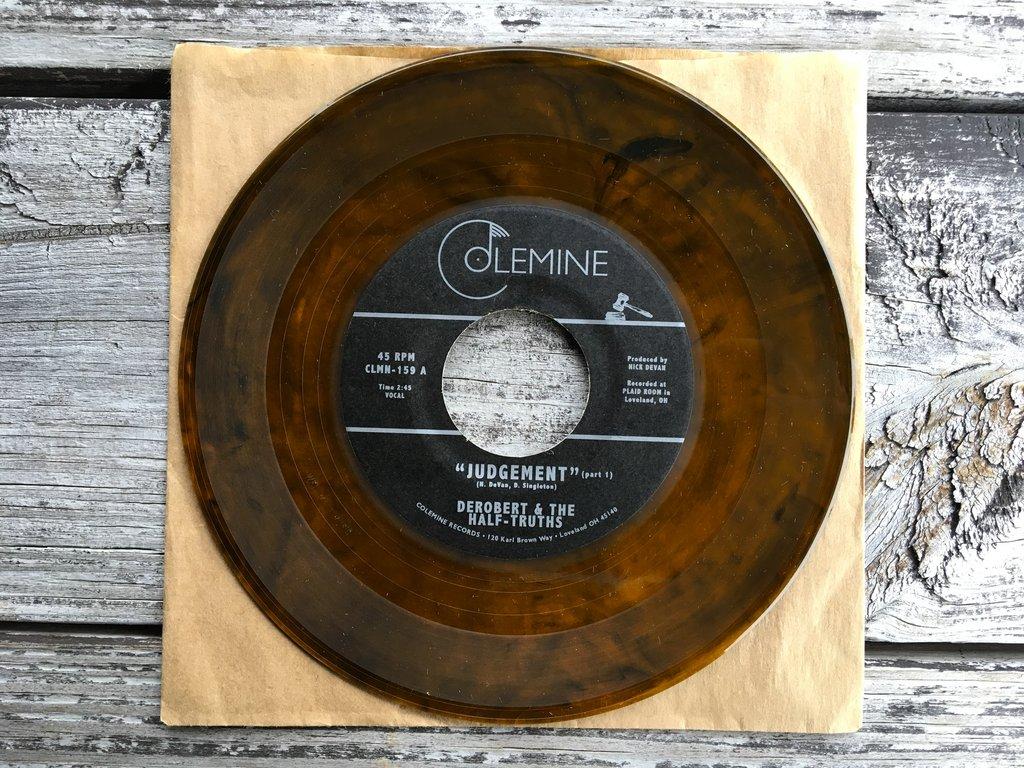 Image result for DeRobert & The Half Truths - Judgement (Colemine) *Orange Vinyl!* $6.99