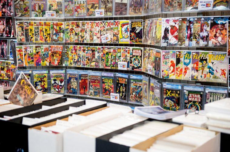vintage comic shop